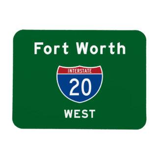 Fort Worth 20 Rectangular Photo Magnet