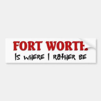 Fort Worth Etiqueta De Parachoque