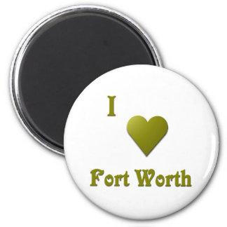 Fort Worth -- Deep Green Magnet