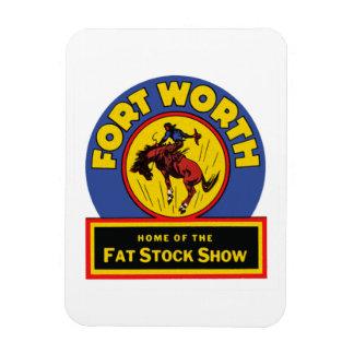Fort Worth Fat Stock Show Rectangular Photo Magnet