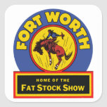 Fort Worth Fat Stock Show Square Sticker
