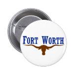 Fort Worth Flag 2 Inch Round Button