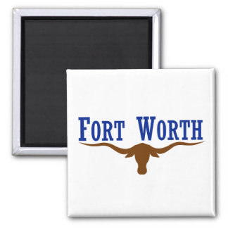 Fort Worth Flag 2 Inch Square Magnet