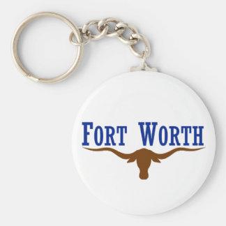 Fort Worth Flag Basic Round Button Keychain