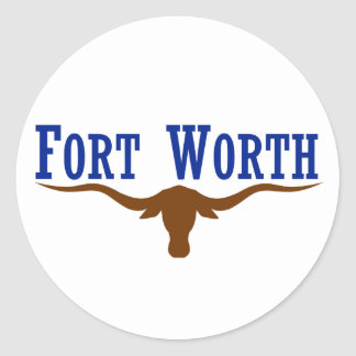 Fort Worth Flag Classic Round Sticker