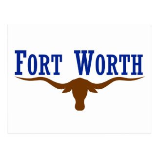 Fort Worth Flag Postcard