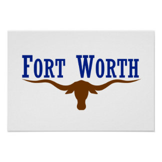 Fort Worth Flag Poster