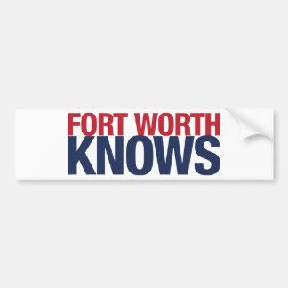 Fort Worth Knows Bumper Sticker