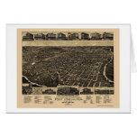 Fort Worth, mapa panorámico de TX - 1886 Tarjeta De Felicitación