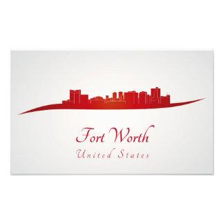 Fort Worth skyline in network Photo Print