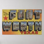 Fort Worth, Tejas - escenas grandes de la letra Poster