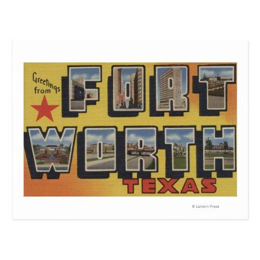 Fort Worth, Tejas - escenas grandes de la letra Tarjeta Postal