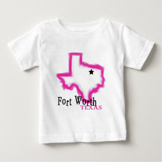 Fort Worth Texas artistic state outline Infant T-shirt