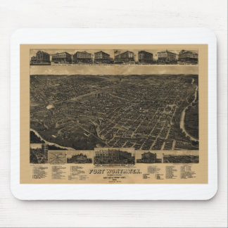 Fort Worth, Texas Birds Eye View 1886 Mouse Pad
