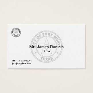 Fort Worth Texas Great Seal Business Card