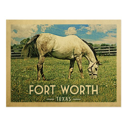 Fort Worth Texas Postcards - Vintage Horse Farm
