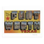 Fort Worth, Texas - Large Letter Scenes Postcard