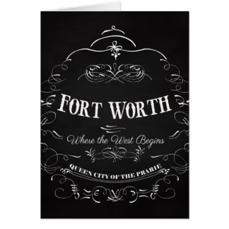 Fort Worth, Texas - Queen City of the Prairie Card