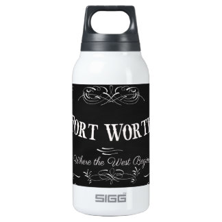 Fort Worth, Texas - Queen City of the Prairie Insulated Water Bottle