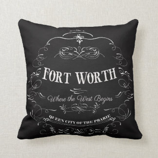 Fort Worth, Texas - Queen City of the Prairie Throw Pillow