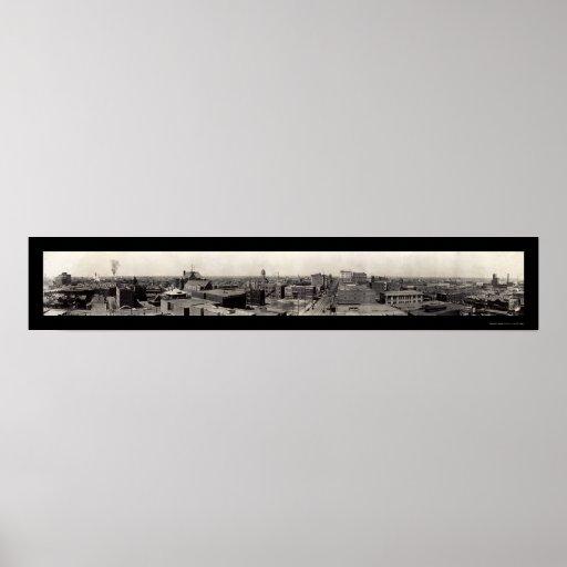 Fort Worth Texas Scene Photo 1910 Poster