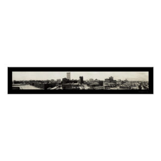 Fort Worth Texas Sky Photo 1920 Poster