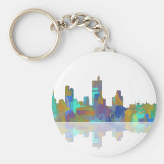 Fort Worth Texas Skyline Keychain