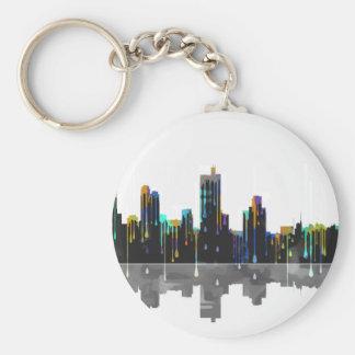 Fort Worth Texas Skyline Keychain