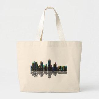 Fort Worth Texas Skyline Large Tote Bag