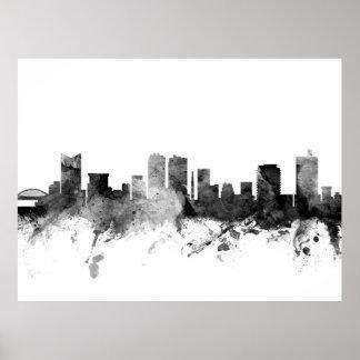Fort Worth Texas Skyline Poster