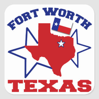 Fort Worth, Texas Square Sticker