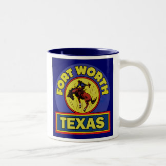 Fort Worth Texas Two-Tone Coffee Mug