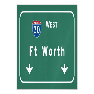 Fort Worth Texas tx Interstate Highway Freeway : Magnetic Card