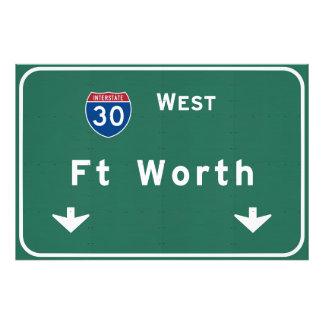 Fort Worth Texas tx Interstate Highway Freeway : Photo Print