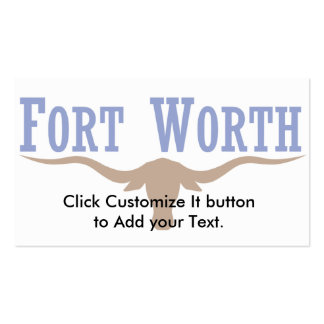 Fort Worth, Texas, United States Double-Sided Standard Business Cards (Pack Of 100)