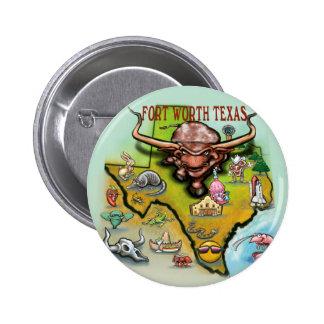 Fort Worth TX Pinback Button