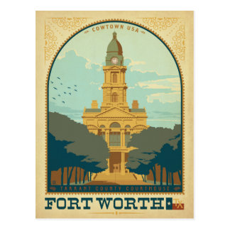 Fort Worth, TX Postcard
