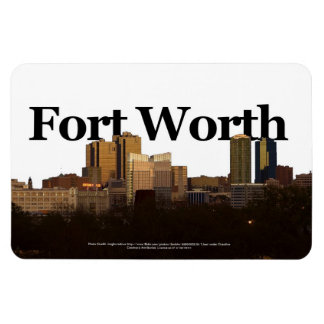 Fort Worth TX Skyline with Fort Worth in the Sky Magnet
