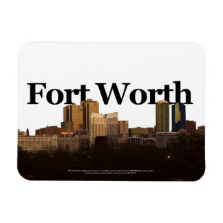 Fort Worth TX Skyline with Fort Worth in the Sky Rectangular Photo Magnet