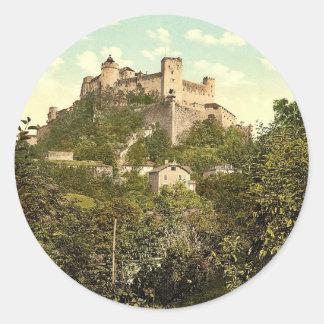 Fortaleza Alto-Salzburg (es decir, Hohensalzburg), Pegatina Redonda