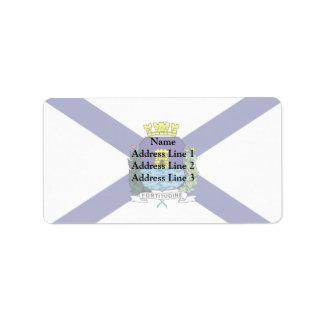 Fortaleza Ceara Brasil, Brazil Custom Address Label