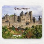 Fortaleza de Carcasona en Francia Tapete De Ratones
