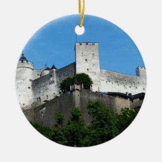 Fortaleza de Hohensalzburg, Austria Adorno Navideño Redondo De Cerámica