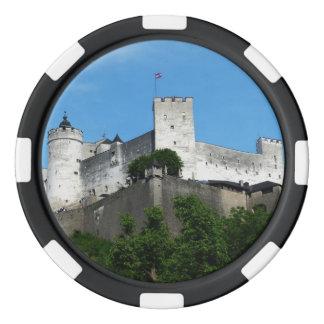 Fortaleza de Hohensalzburg, Austria Juego De Fichas De Póquer