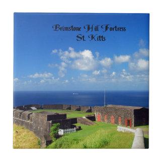 Fortaleza de la colina del azufre azulejo cuadrado pequeño