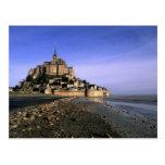 Fortaleza de la isla del St. Miguel Famous Le Mont Tarjeta Postal