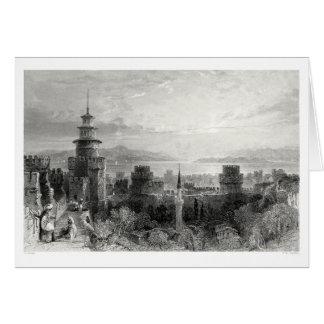 Fortaleza de las siete torres tarjeta de felicitación