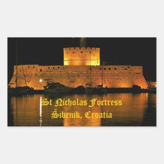 Fortaleza de San Nicolás - Šibenik, Croacia Rectangular Altavoces