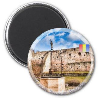 Fortaleza del campesino de Calnic Imán Redondo 5 Cm