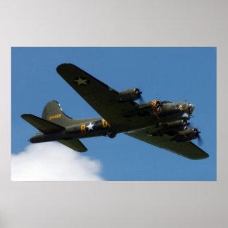 Fortaleza del vuelo B-17 Posters